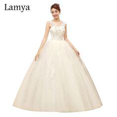 Lamy Lace V Neck Customized Cheap Fashionable Wedding Dress 2017 Wholesale Princess  Summer Dresses Retail vestido de noiva 1ae7b798682d