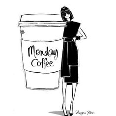 Lifesize Monday Coffee please. Illustration by Megan Hess. Twitter / Youtube…