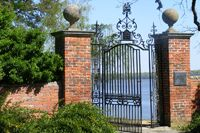 Westover Plantation along the James River in Charles City County. Model for gate entering the Sanctuary estate, also along the James.