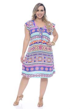 Vestido Floral Étnico Big Dresses, Plus Size Dresses, Vestidos Plus Size, Look Fashion, Womens Fashion, Modelos Plus Size, African Wear, Feminine Style, Dress Me Up