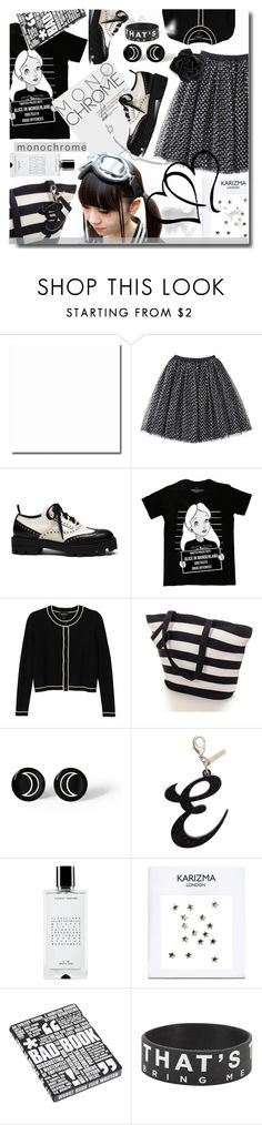 """Monochrome"" by wuteringheights ❤ liked on Polyvore featuring Mulberry, Disney, Monki, Retrò, Edie Parker, Agonist and Nuuna"