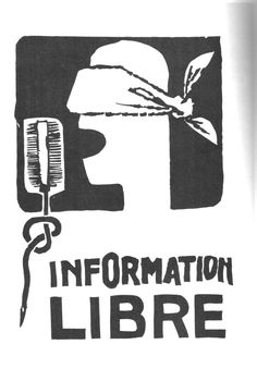 1968 mai Information libre Affiche de l'atelier populaire des Beaux-arts
