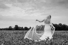 Black and white country wedding