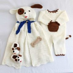 """Original Designs By: Marie Murray and Rosemarie Fagan Easy Skill Size: 6-12 months - Pattern using """"G"""" hook. 12-18 months - Pattern using """"I"""" hook. Materials: Yarn Needle; Worsted Weight Yarn: Cape: O"""