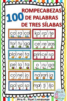 Syllable Word Family Homes in Spanish (las silabas) Bilingual Centers, Bilingual Classroom, Spanish Classroom, Bilingual Education, Preschool Spanish Lessons, Spanish Teaching Resources, Dual Language Classroom, French Language Learning, German Language