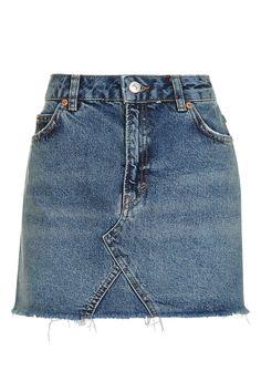 MOTO Highwaist Denim Skirt