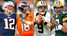 Brady, Manning, Brees, Rodgers
