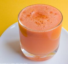 Sunrise Juice, vegan, serves 1-2    1 small-medium pink grapefruit, peeled  1 small apple  *I used an organic Pink Lady apple  3-4 small organic carrots (length of a pencil, thickness of a dime)  *Fresh carrots, not baby carrots  1 tsp fresh ginger, peeled  1/2 small lemon, peeled, de-seeded    Directions:    1. Juice all ingredients in your juicer. Drink. Smile.