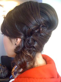 Side updo, hmm would go with my vintage dress