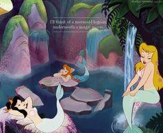 I'll think of a mermaid lagoon, underneath a magic moon.