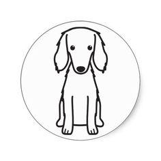 Saluki Dog Cartoon Stickers