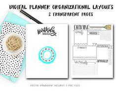 Biggest Mom life hack - digital planning - fully customizable and unbelievably convenient (June & Lucy Digital Planner on Etsy) - birthday tracker and cleaning schedule for a digital planner Planner Pages, Planner Stickers, Packing List Template, Movie Tracker, Birthday Tracker, Any App, Information Design, Staying Organized, Schedule