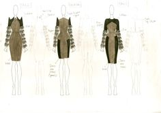 Fashion Sketchbook - dress sketches; fashion design development; fashion student portfolio // Vir Shete