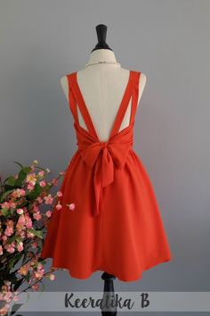 A Party Dress V Shape Burnt Orange Prom Dress Cocktail Party Dress Wedding Bridesmaid Dress Burnt Orange Party Dress Mini Dress XS-XL by LovelyMelodyClothing on Etsy https://www.etsy.com/listing/263697399/a-party-dress-v-shape-burnt-orange-prom