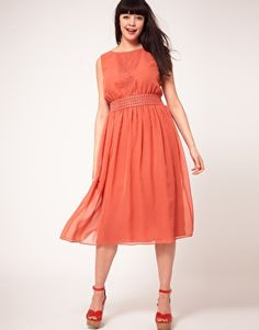 ASOS CURVE Exclusive Dress With Cross Back