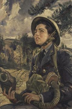 Corporal J. Pearson GC, Women's Auxiliary Air Force by Laura Knight. Daphne Pearson was the first woman to receive the George Cross (awarded for gallantry not in the face of battle) and one of only 13 to do so. George Cross, Social Realism, Knight Art, English Artists, British Artists, Battle Of Britain, Art Uk, Military Art, Military History