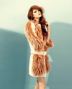 Prada Wool & Faux Fur Coat
