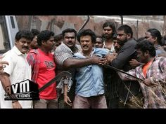 """The first mass fight scene on Sivaji The Boss movie by AVM productions Super Star Punch Dialogue - """"Singam Single ah Thaan Varum"""""""