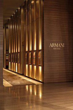Armani Hotel Dubai _ Lobby and reception, collaboration with American architects Wilson Associates (Dallas )_