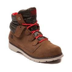Take on the trails in style with the new Ballard Hiker Boot from The North Face! The Ballard Boot is a throwback style with modern influences, such as 100 gram insulation to keep you warm and toasty, waterproof suede leather uppers with quilted, ripstop tongue and collar, gusseted tongue, EVA midsole, and durable rubber lug outsole for superior traction on any terrain.