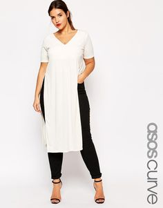 Need this in my life <3 ASOS Curve | ASOS CURVE Longline Tunic with Split Sides at ASOS