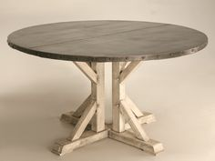 Round Zinc Kitchen Table