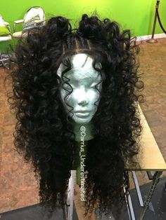 Black Wigs Lace Frontal Wigs Medium Length Curly Wigs African American - Black Lace Frontal Wigs Medium Length Curly Wigs African American – wigsking The Effective Pictur - Curly Wigs African American, Peruvian Curly Hair, Curly Hair Styles, Natural Hair Styles, Curly Hair With Braids, Wavy Hair, Big Curly Hair, Crimped Hair, Ponytail Styles