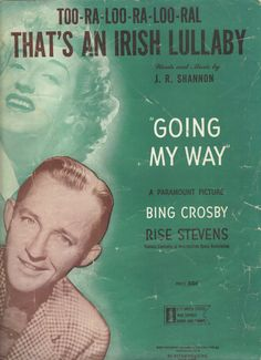 Bing Crosby Vintage Sheet Music by JaKellsUniqueBoutiqu on Etsy