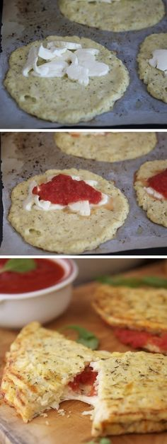 Cauliflower Crust Calzone #vegetarian #recipe #veggie #healthy #recipes