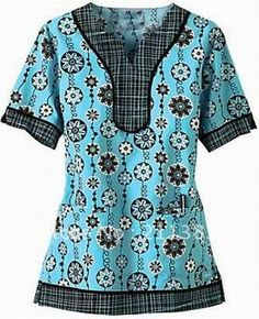 Free Scrub Shirt Pattern | Women cotton nurse uniform hospital uniform medical scrubs tops work ...