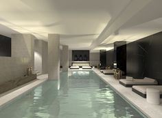 Glenn Sestig Architects - Indoor Pool at One Fifty Kouter residences, Belgium