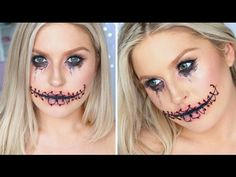 Easy Halloween Stitched Up Mouth ♡ Using Only Makeup! - YouTube