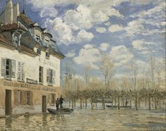 Alfred Sisley - Boat in the Flood at Port Marly - Google Art Project - Alfred Sisley - Wikipedia, the free encyclopedia