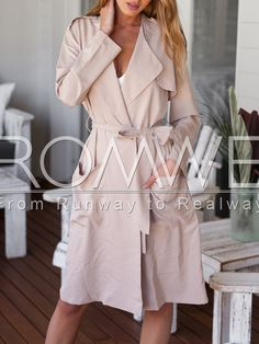Khaki Long Sleeve Pockets Trench Coat $23.99   http://m.romwe.com/Khaki-Long-Sleeve-Pockets-Trench-Coat-p-127397-cat-676.html