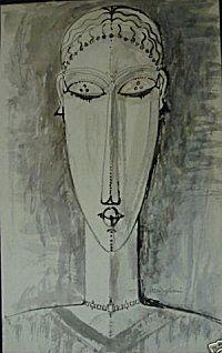 caryatid drawing by amedeo modigliani Amedeo Modigliani, Renoir, Pablo Picasso, Italian Artist, Art History, Painting & Drawing, Vases, Illustration, Modern Art