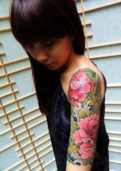#tattoo #japanesetattoos #traditionaltattoos #tattooflower #flowertattoos #peony…