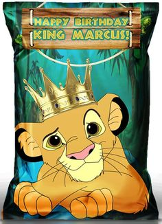 Baby Shower Centerpieces, Baby Shower Favors, Baby Shower Decorations, Baby Shower Invitations, Birthday Bag, 2nd Birthday Parties, Happy Birthday Me, Lion King Party, Lion King Birthday