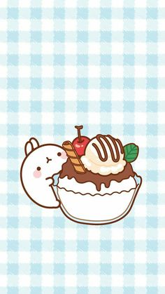 Check out this awesome collection of Ice Cream Cute Japanese wallpapers, with 9 Ice Cream Cute Japanese wallpaper pictures for your desktop, phone or tablet. Chibi Kawaii, Kawaii Bunny, Kawaii Art, Kawaii Wallpaper, Cute Wallpaper Backgrounds, Iphone Wallpaper, Cute Kawaii Backgrounds, Cream Wallpaper, Cute Animal Drawings Kawaii