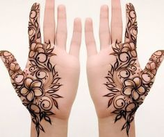 Best Henna Tattoo Designs And Ideas For Women - Henna tattoo - Henna Designs Hand Khafif Mehndi Design, Mehndi Designs For Girls, Stylish Mehndi Designs, Mehndi Designs For Beginners, Mehndi Design Photos, Mehndi Designs For Fingers, Latest Mehndi Designs, Mehandi Designs Modern, Henna Tattoo Designs