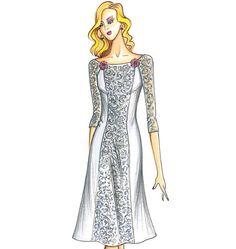 F3732, Marfy Dress Dress Illustration, Fashion Illustration Sketches, Fashion Design Sketches, Marfy Patterns, Vogue Sewing Patterns, Dress Patterns, Mob Dresses, Girls Dresses, Dress Sewing