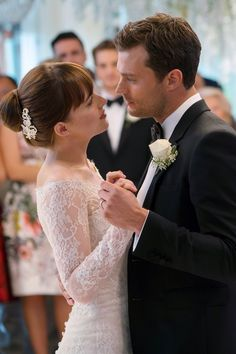 "Anastasia Steele (Dakota Johnson) and Christian Grey (Jamie Dornan) in ""Fifty Shades Freed"""