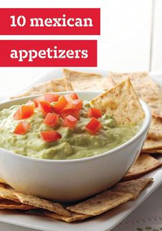 10 Mexican Appetizers -- Got a taste for something south of the border? You'll find an array of tasty recipes right here. More than just chips and salsa recipes, you'll find Mexican delights such as queso dips, quesadillas and guacamole dip recipes.
