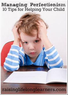 Definitely need to keep and read again! Managing Perfectionism: 10 Tips for Helping Your Child -- gifted children, twice exceptional children, motivating kids, helping with anxiety.parenting tips. Kumon, Twice Exceptional, Parenting Articles, Parenting Tips, Gifted Kids, Gifted Students, Gifted Education, Anxiety In Children, Parent Resources