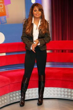 ae86fb3ca177 Jackson hit up BET s  106   Park  in knee high boots. Janet Jackson