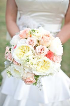 #Bouquet | See the wedding on #SMP Weddings: http://www.stylemepretty.com/missouri-weddings/st-louis/2013/12/09/st-louis-wedding-at-kuhs-farm/  White-Klump Photography