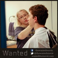 Makeup Artist Mary Smit makes sure Rusty Martin is looking his best for the cameras. #shortfilm #indiefilm #adoption #fostercare #filmcrew #actor