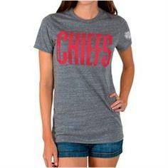 Junk Food Kansas City Chiefs Women's Steel Touchtown Tri-blend T-Shirt