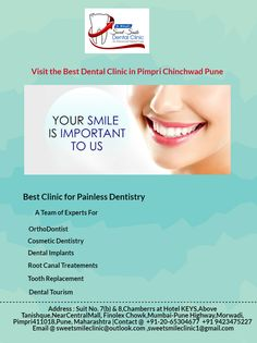 Sweet Smile Dental Clinic in Pune understand the importance of a perfect smile. A beautiful, bright smile and a pearly white set of teeth boosts your self-confidence in the day-to-day life. In today's time dental care is not just about treatment anymore, it is all about positive experience.