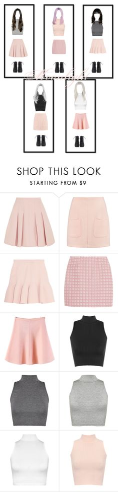 """""""My Own Kpop Girl-Group ~Moonlight~"""" by alankpop3 ❤ liked on Polyvore featuring RED Valentino, See by Chloé, Carven, Alexander Lewis, WithChic and WearAll"""