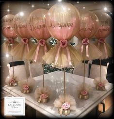 56 Amazing balloon design ideas for all celebrations Toys, Kids & Baby - Hochzeit - Baby Shower Deco Baby Shower, Shower Party, Baby Shower Themes, Baby Shower Decorations, Shower Ideas, Shower Favors, Shower Invitations, Baby Shower Girl Centerpieces, Baby Shower Balloon Ideas